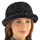 Collections Etc Roll Brim Chenille Hat