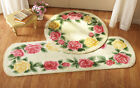 Collections Etc Victorian Rose Trim Accent Rugs