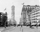 1908 Historical Photo Times Square New York City Trolley Street