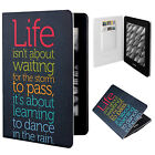 "Life Motto PU Leather Flip Folio Case Cover Skin For 6"" Amazon Kindle Paperwhite"