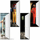 "77"" Halloween Horror Clown Killer Ghost Zombie PVC Door Poster Banner Decoration"