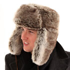 NEW FAUX FUR COSSACK STYLE WINTER TRAPPER HAT 100% ACRYLIC & POLYESTER-S,M,L,XL