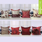 Decor Throw Pillow Case Pillowslip Cushion Cover Square Red New