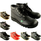 Unisex Kids Infants Kickers Kick Hi Back To School Leather Boots Shoes UK 5-12