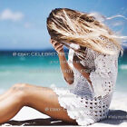 dp141 Celeb Style Vintage Cotton Crochet Lace Off Shoulder Beach Cover-up Dress