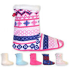 Womens Slipper Boots Ladies Slippers Lined Warm Winter Boot New Size 3 4 5 6 7 8