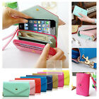 Crown Wristlet Leather Wallet Case Purse w Card Slot wristlet Pouch For iPhone 6