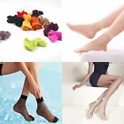 10 Pairs Fashion New Ultra-thin Fiber Pure Colors Ankle High Pop Short Socks
