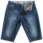 New Men's Blue Denim Shorts Jeans Longer Length Size 28 29 30 32 33 34 35 36 39