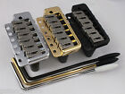 WILKINSON WVPC TREMOLO BRIDGE + Stainless Steel Saddles in Chrome, Black or Gold