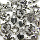 Mixed Tibetan Silver HEART Pendants CHARMS Lots of 50/ 100/ 250/ 500/ 1000