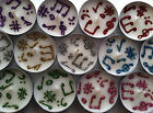 BN Unscented Set of 6 White Tea Lights with Henna & Glitter Musical Notes Design