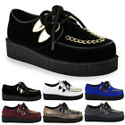 WOMENS LADIES FLAT PLATFORM WEDGE LOAFERS CREEPERS PUNK GOTH SHOES BOOTS SIZE