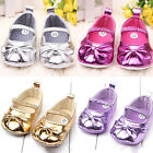 Baby Girls Princes Crib Shoes Toddler Bowknot Soft Sole Prewalker Shoes Gifts