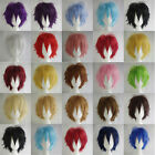 New 20 Colors Fashion Short Straight Man/Men Wig Cosplay Party Wigs +Cap
