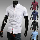 SHORT SLEEVE STYLE CASUAL SHIRTS COOL MENS SLIM FIT HOME POLO SHIRTS TOPS SHIRTS