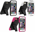 Amzer Soft + Hard Shell Dual Layer Hybrid Kickstand Case Cover For iPhone 6 4.7""