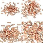 10 Pure Copper Crimp Tube Beads Findings for Ending Beading Cord & Wire Ends