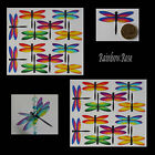 Transparent Film Dragonfly #52 Rainbow Size 3 UN-CUT 6, 12 or 24 suncatchers 3D