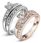 2014 New Krystal Ring Set 18k White & Rose Gold GP Size 6-9 US1 WB