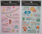 You Choose! BABY BOY / GIRL CARDSTOCK STICKERS The Paper Studio Stick-A-Bilities