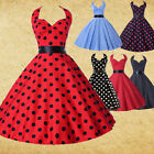 CHEAP Retro Vintage Rockabilly Polka dots Swing 50s pinup Housewife Flared Dress