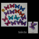 Transparent Film Butterfly #2 PEACOCK size 3 PRE-CUT 10, 16 or 32 suncatchers 3D