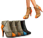 Women's  High Heels Ankle Platform Shoes Back Zipper Boots AU Sz 4-7.5 Y252