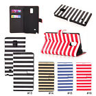 Rainbow Stripes PU Wallet Stand Flip Case Cover For Samsung Galaxy Note 4 N9100