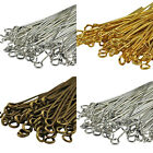 250x40mm 200x50mm Bronze, Gold & SILVER PLATED Metal EYEPINS - Eye Pins Findings