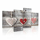 LOVE 3 Canvas 4A-RH Framed Printed Wall Art ~ 4 Panels