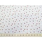Medium Strawberries On White Polycotton Fabric