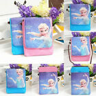NEW Frozen Princess PU Leather Girl Wallet Coins Phone Mini Satchel Purse Bag