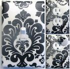 DAMASK LIGHT SWITCH OUTLET WALL PLATE COVERS CUSTOM KIDS BATH ROOM DECOR 3