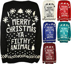 New Plus Womens Merry Christmas Ya Filthy Animal Ladies Knitted Jumper 14 - 26