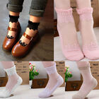 1Pair Sexy Ultrathin Transparent Beautiful Crystal Lace Elastic Short Socks
