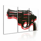Andy Warhol Gun Modern Wall Art Canvas Print Framed Box ~ 3pc Many Sizes Style