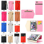 Fashion Zipper PU Leather Wallet Stand Flip Card Holder Case Cover for iPhone 6