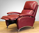 Barcalounger Oracle II Genuine Leather Recliner Lounger Chair - Stargo Red