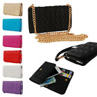 "Fashion PU Leather Chain Hangbag Wallet Flip Case Cover For 4.7""-5"" Mobile Phone"