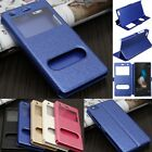Luxury Flip Leather View Window Case Cover Stand For Huawei Ascend P8 Lite 5.0""