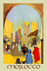 Morocco  Africa Camel Travel Tourism Vintage Poster Repro FREE SHIP in USA