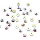 Swarovski 3188 Xirius / 3128 Xilion Lochrose Round Sew-on Stones Center Hole