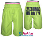 ♫NEU♫ coole Boardshorts in Lemongreen Neon mit Poprint ~ BLUE SEVEN ~ Gr.Wahl