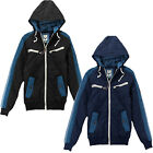 Mens Jacket Brave Soul New Casual Quilted Padded Zip Thru Winter Hooded Coat