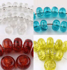 Wholesale New Natural Czech Crystal Crack Glass Loose Spacer Craft Bead 14x8mm