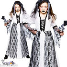 GIRLS KIDS GHASTLY GHOST BRIDE GOTH CORPSE HALLOWEEN HORROR FANCY DRESS COSTUME