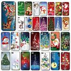 Phone Case Cover Painting Christmas Pattern Skin For Apple iPhone 4 4S 5 5S 5C