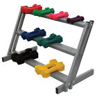 Ideal Products Dumbbell Storage Rack Three Shelves For Smaller Dumbbells