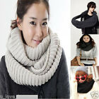 Winter Men's Women's Unisex Knitted Loop Circular Warm Trendy Scarf Shawl Gift